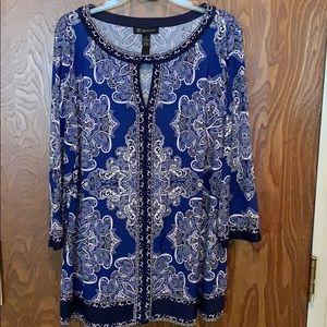 INC International Concepts key hole blouse/tunic